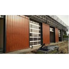 Вентилируемый фасад с облицовкой сайдингом стальным L-брус