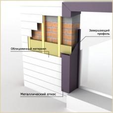 Обрамление окон/дверей (фасонными изделиями)