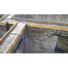 Монтаж армопояса из бетона