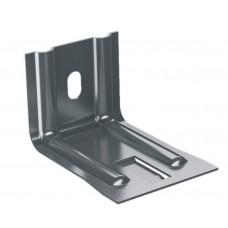 Крепежный кронштейн усиленный с шайбой и изоляционной прокладкой оцинкованный,ширина-90 мм.