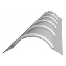 Планка конька круглого R 110х2000 Полиэстер 25 мкм 0,45
